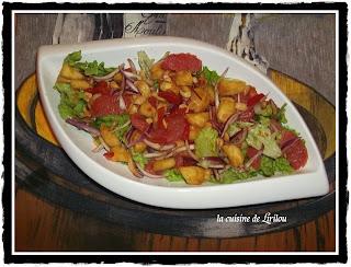 Salade de pamplemousses roses et d'ananas