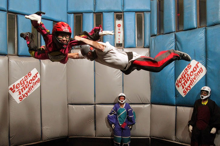 Las Vegas Indoor Skydiving // Things for Kids to Do in Las Vegas.