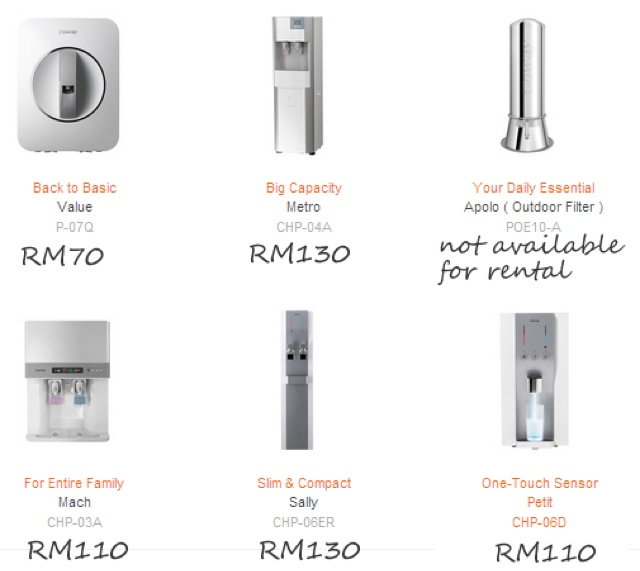 live life love with coway water purifier rental pricing harga sewa beli. Black Bedroom Furniture Sets. Home Design Ideas