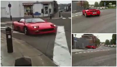 Falhanço: Homem rebenta Ferrari contra muro ao tenta sacar pião