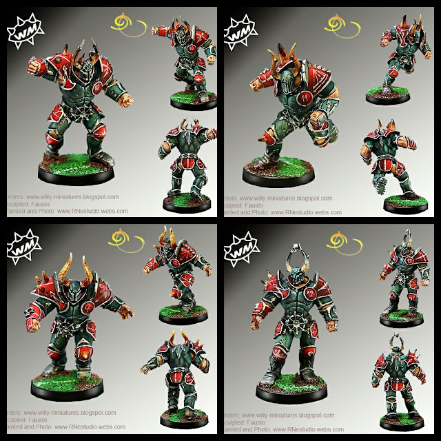 Willy Miniatures Guerreros del Caos Blood Bowl
