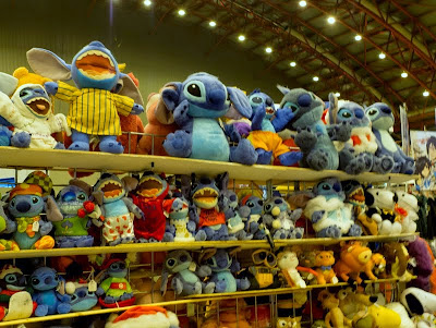 Stitch plush toys at London Film and Comic Con