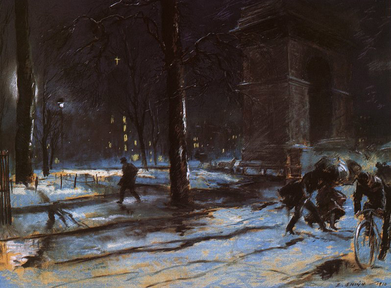 Everett Shinn - Washington Square