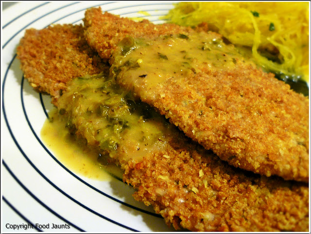 Pork Scaloppine with a Lemon Caper Sauce
