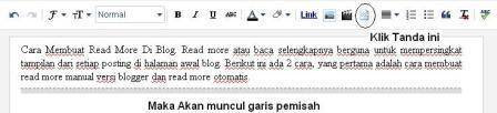 cara membuat read more manual blog