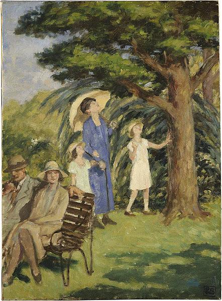 Rupert Bunny - Scene in the Botanic Gardens 1932-33