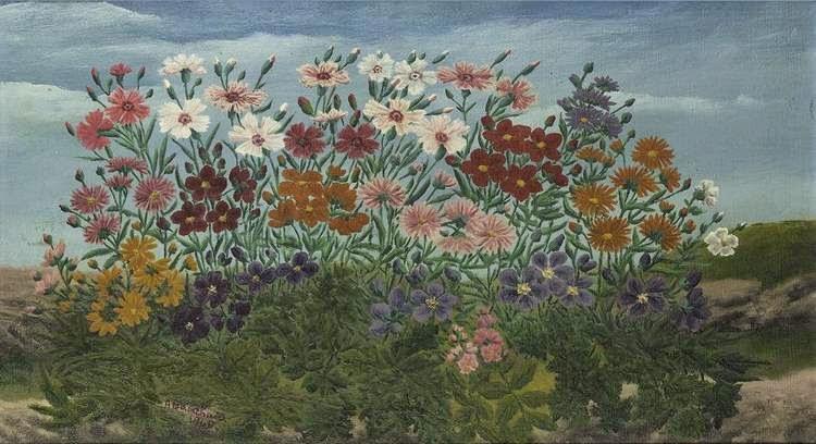André Bauchant - Massif de fleurs