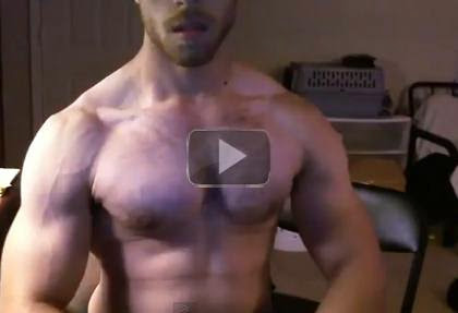 Hairy Vascular MuscIe Hunk Flexing