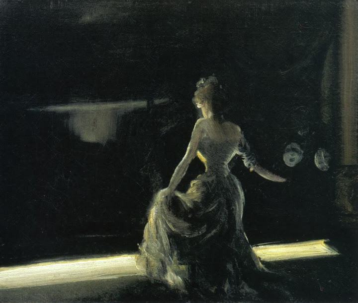 Everett Shinn - Girl on Stage