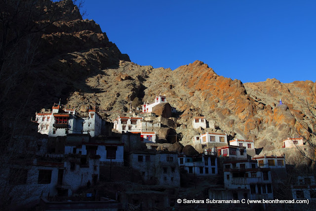 The houses of the monks next to the Hemis Moanstery