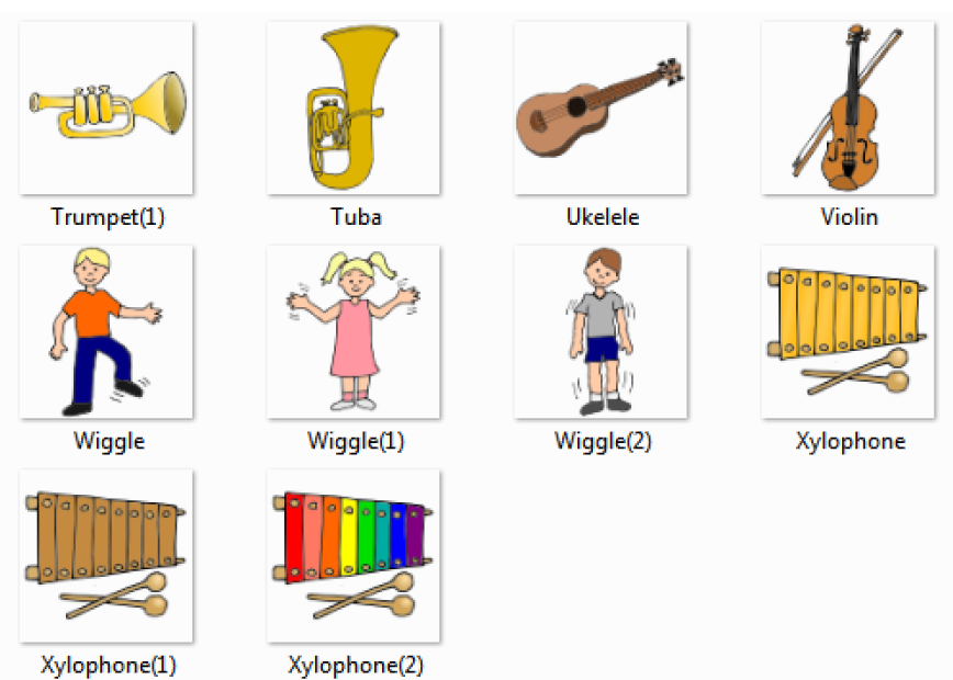 5%2520 %2520Music%2520Pictures%2520for%2520Classroom%2520and%2520Therapy%2520Use Musical Instruments things english through pictures