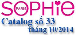 Catalog Sophie Paris 33 tháng 10/2014