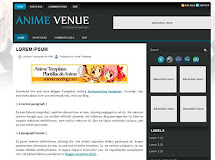 "Anime Venue ""Plantilla de Anime para Blogger"""