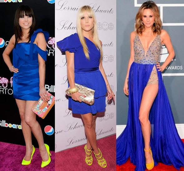 O que usar com vestido longo azul royal
