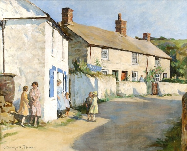 Stanhope Forbes - The Village Street, Newlyn