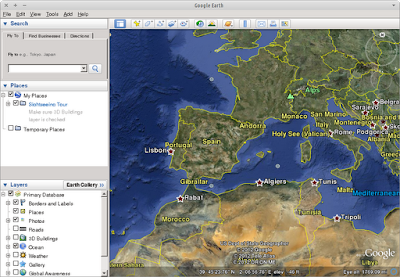 Google Earth running on Xubuntu 12.04