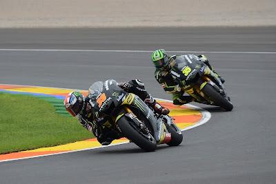 Bradley Smith and Cal Crutchlow Valencia MotoGP Test 2012