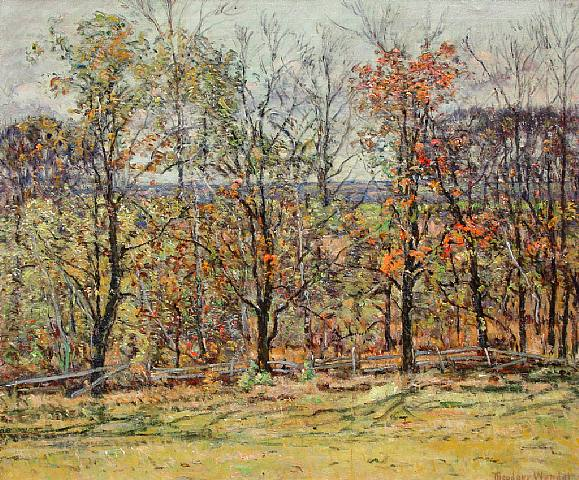 Theodore Wendel – View from the Artist Ipswich Farmhouse