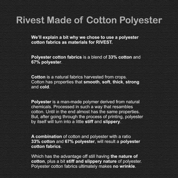 bahan katun polyester rivest