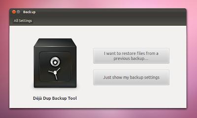 Deja Dup Backup tool