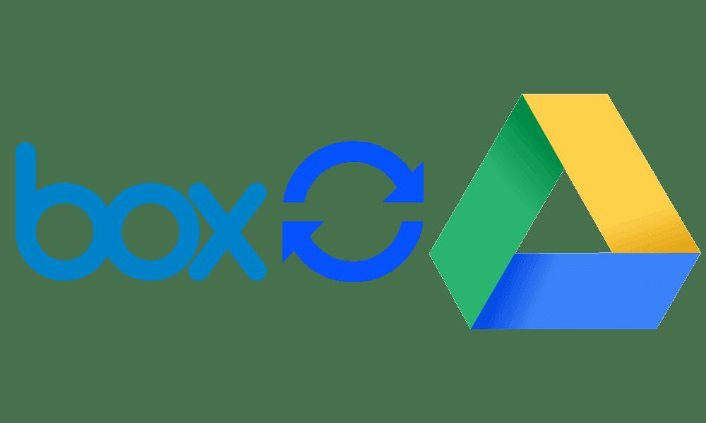 boxからGoogleDriveへフォルダーをコピー