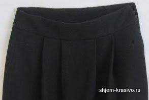 Как обработать верхний срез юбки поясом