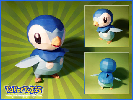 Pokemon Piplup Papercraft 5