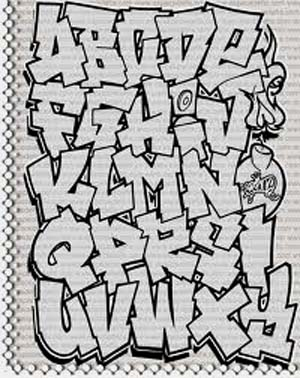 Graffiti Art Design Alphabet Letters A