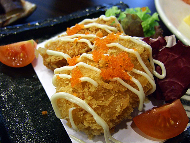 Salmon and sweet potato croquette
