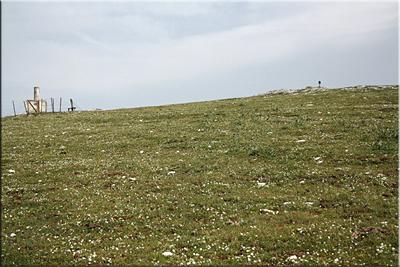 Llegando a la cima de Larredez/Atxuri