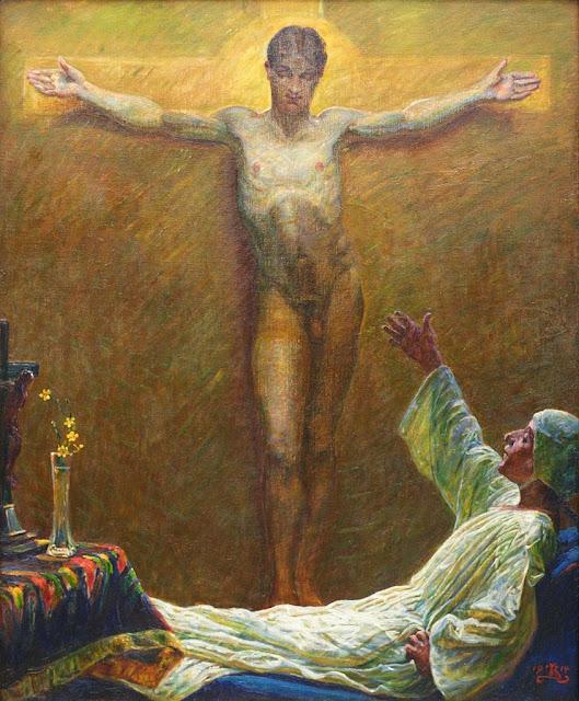 Kristian Zahrtmann - Die Heilige Katharina von Sienna (1914)