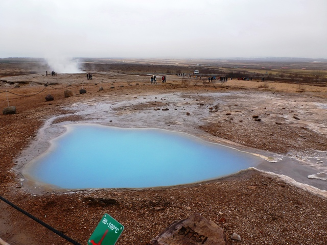 Sulphur pools beside the famous Strokkur & Geysir
