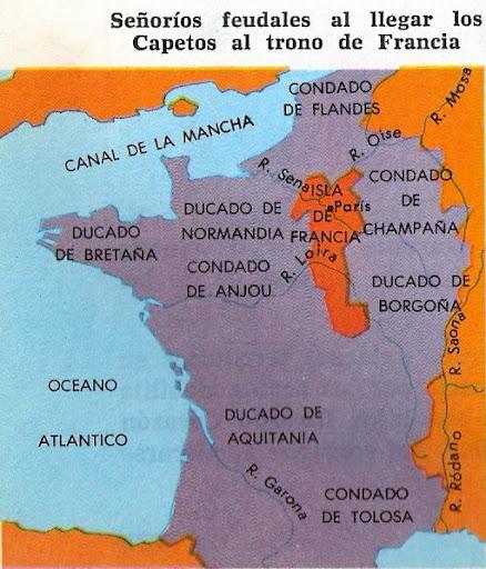 Mapa Se Or Os Feudales Francia