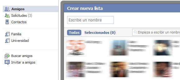 Lista Amigos Facebook