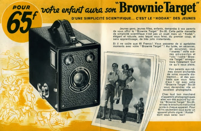 Folleto publicitario de la Six-20 Brownie Target en Francia