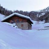 Latscher Alm im Winter am 15. Januar 2010
