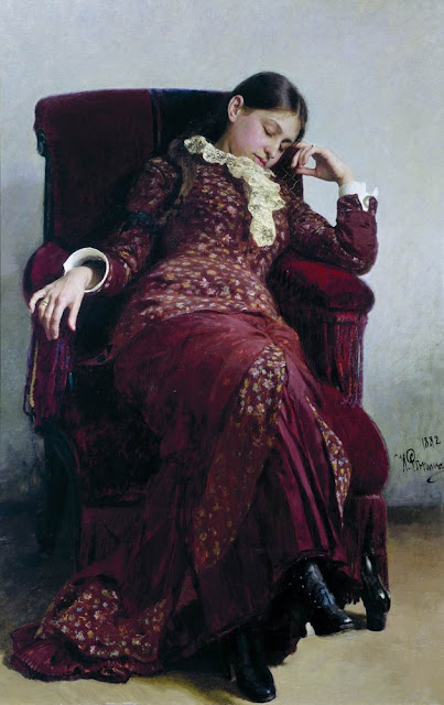 Ilia Repin - Rest. Portrait of the artist's wife