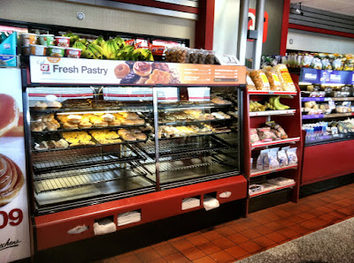 Inside quiktrip donuts case photo