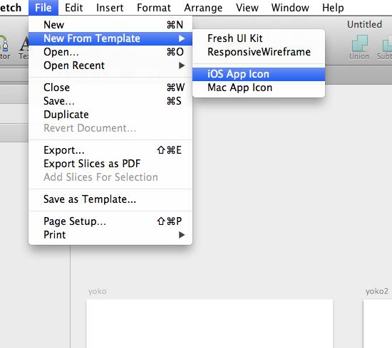既存のテンプレから開く場合は、File → New From Templateで開きます。