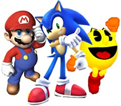Mario, Mario Brothers, Sonic The Hedgehog, Pacman, Nintendo