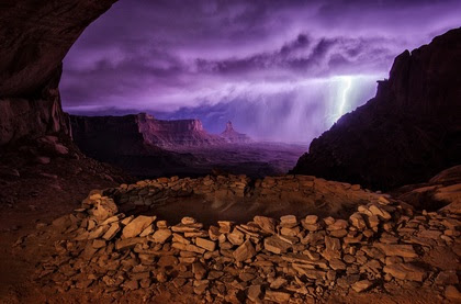 Thunderstorm at False Kiva. Second place winner of National Geographic Traveler Photo Contest 2013.