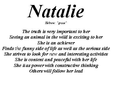 What does the name Natalie mean - answers.com