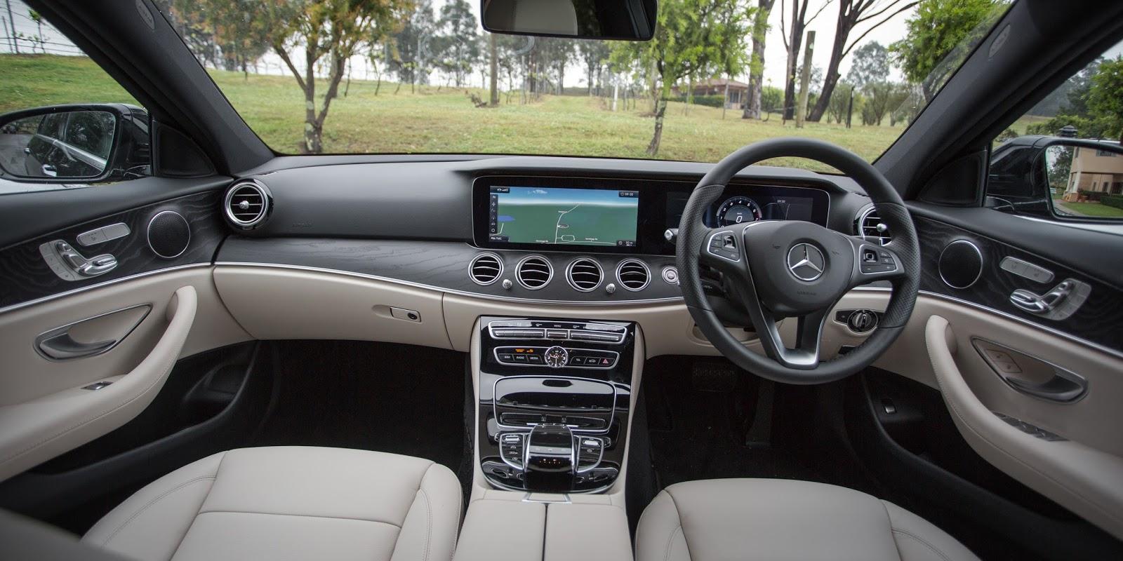 Khoang điều khiển của Mercedes Benz E200 2017 thực sự quá ấn tượng