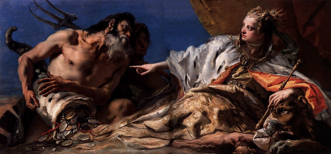 Giovanni Battista Tiepolo - Neptune Offering Gifts to Venice