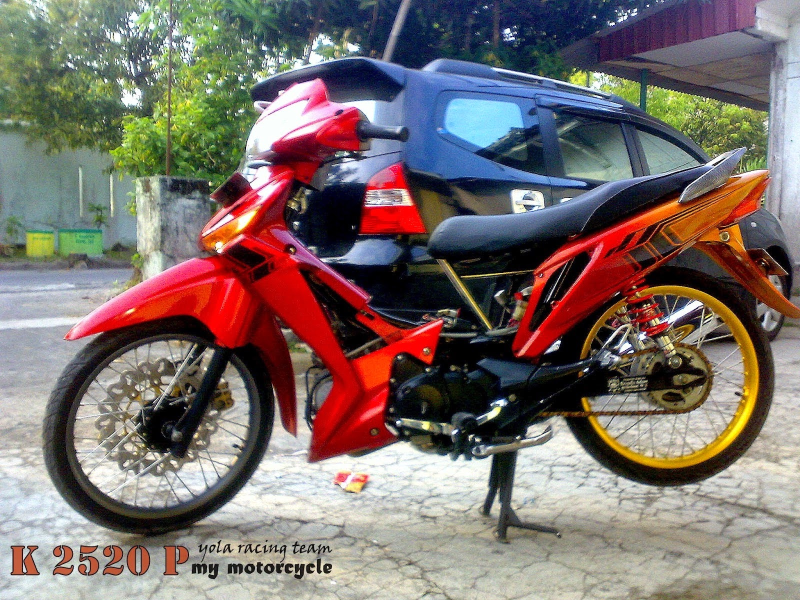 Motor Supra X Modifikasi Trail