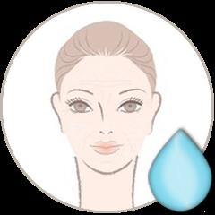 Etat de peau : Peau déshydratée