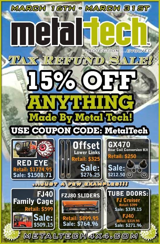 Metal Tech 15% Off Tax Refund Sale - Toyota 4Runner Forum