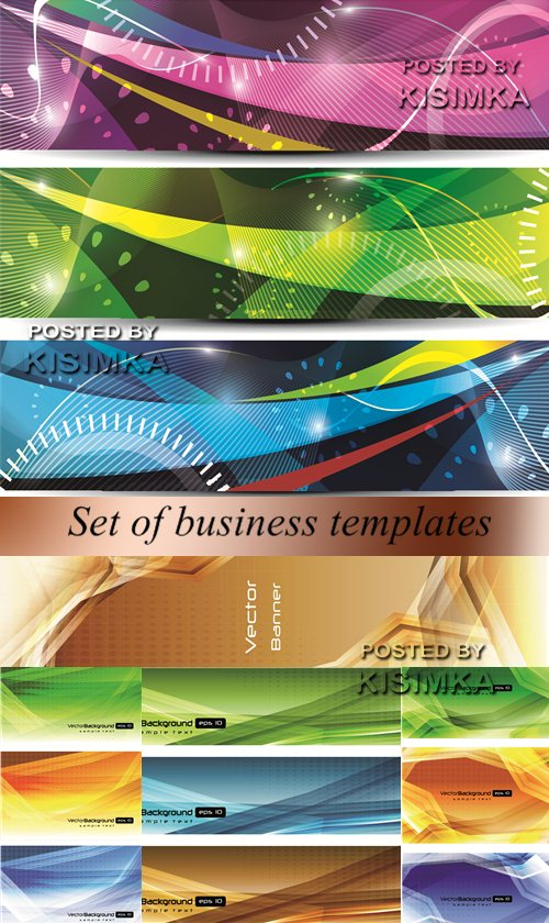 Stock: Set of business templates