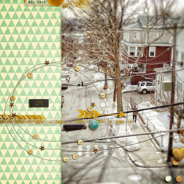 Love // 12x12 // Sequins & Stitches by Mari Koegelenberg