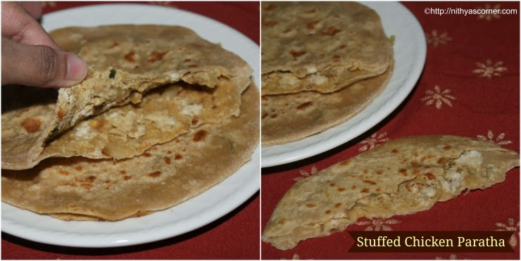 Chicken Stuffed Paratha